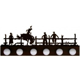 image for Bronc Rider Western 6 Bulb Vanity Light Rust IN-STOCK SALE