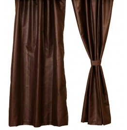 image for Brownstone Faux Leather Drapery Set 84 Long