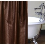 image for Brownstone Faux Leather Luxury Custom Shower Curtain