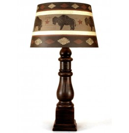image for Buffalo Southwest Shade & Squire Pottery Lamp 33""