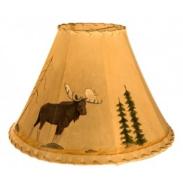 image for Bull Moose Icon Hand Painted Leather Lampshades