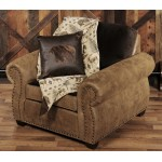 image for Burly Collection Leather Chocolate Upholstered Lounge Chair
