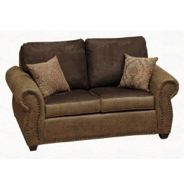 image for Burly Collection Leather Upholstered Love Seat