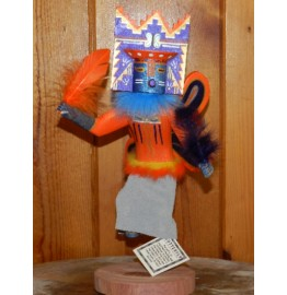 image for BUTTERFLY Kachina Doll Navajo Wood Carved 12 inch