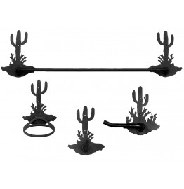 image for Desert Cactus Scenic Towel Bar Set 4-piece