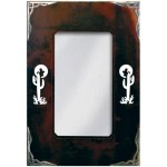 image for Cactus Icon Burnished Corners Southwest Wall Mirror 36 x 25