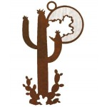 image for Desert Cactus & Moon Southwest Ornaments Set of 3