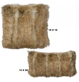 image for Canadian Stone Fox Faux Fur Throw Pillow Set of 2