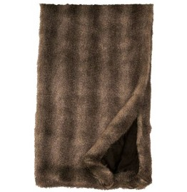 image for Cape Grey Fox Faux Fur Throw Blanket 54 x 72