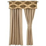image for Caravan Valance & Caprice Hemp Micro-Suede Drapery Set 84 Long