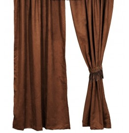 image for Chestnut Suede Drapery Set 84 Long