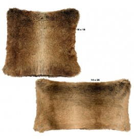 image for Chinchilla Faux Fur Throw Pillow Set of 2