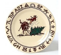 image for Cowboy Christmas Western 7.5 inch Desert Plate True West