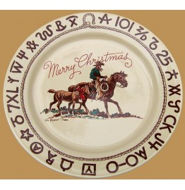 image for Cowboy Christmas Western 11 inch Dinner Plate
