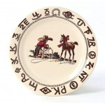 image for Cowboy Christmas 9.5 inch Western Lunch Plate