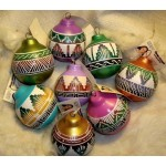 image for Colorful Southwest Navajo Etchware Christmas Ornament