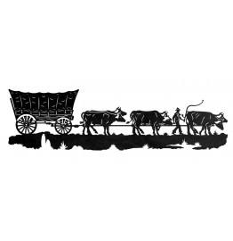 image for Conestoga Wagon Western Wall Art Sculpture 42 x 12