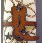 image for Cowboy Boot Metal Napkin Rings set of 8