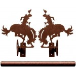 image for Bronc Rider Drapery Pole Rod Holders (Rod Optional)