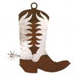 image for Cowboy Boot Steel Ornaments Set of 3