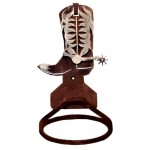 image for Cowboy Boot Towel Ring Burnished