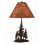 image for Cowboy Campfire Western Lamp & Nightlight & Shade 29""