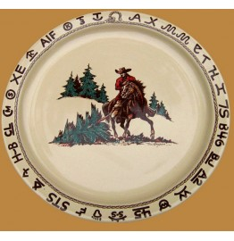 image for Cowboy Christmas Western Large Round Serving Platter