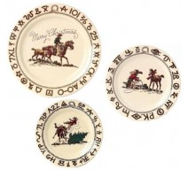 image for Cowboy Christmas Dinnerware 3-Plate Set
