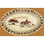 image for Cowboy Christmas Western Oval Serving Platter