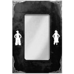 image for Cowboy & Cowgirl Burnished Corners Western Wall Mirror 36 x 25
