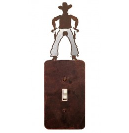 image for Cowboy Draw Burnished Steel Switch Plate Outlet Cover 3 Colors