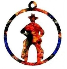 image for Cowboy Western Christmas Ornament