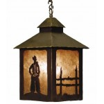 image for Cowboy & Fence Western Pendant Lantern Light