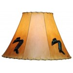 image for Cowboy Hat & Boots Hand Painted Leather Lampshades