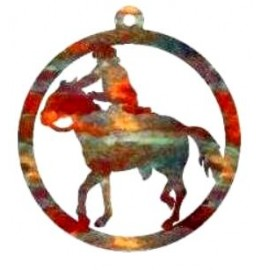 image for Cowboy Riding Horse Western Christmas Ornament