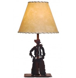 image for Cowboy Figure Western Table Lamp & Shade 25""