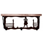 image for Cowgirl Corral 20 inch Western Wall Shelf (hooks avail)