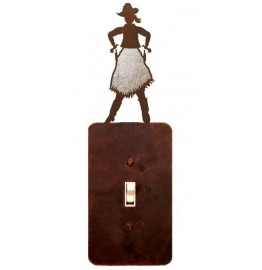 image for Cowgirl Draw Burnished Steel Switch Plate Outlet Cover 3 Colors