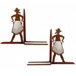 image for Cowgirl Draw Western Bookend Set