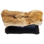 image for Coyote Fur Topped Cowhide Leather Pillow 22 x 16