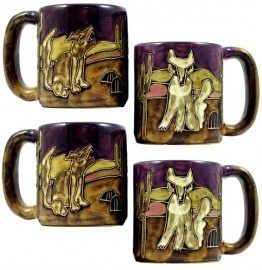 image for Coyotes 4-Pc Mara Stoneware Mugs 16-oz