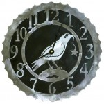 image for Crow Raven Bird Western Steel Wall Clock 12 inch