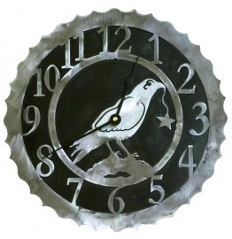 image for Crow Raven Bird Western Steel Wall Clock 18 inch
