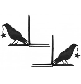 image for Crow Raven Western Bookend Set