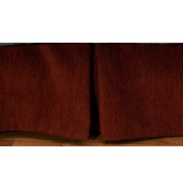 image for Crystal Creek Tailored Bedskirt Chianti Red Chenille