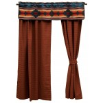 image for Crystal Creek Valance & Terra Woven Drapery Set 84 Long