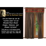 image for A Custom Size Window Drapery Curtain or Shower Curtain - Special Order