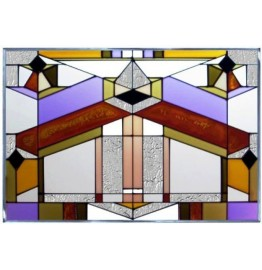 image for Deco Tectural Horizontal Art Glass Panel 20.5 x 14