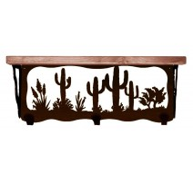 image for Cactus Desert Southwest 20 inch Wall Shelf (hooks avail)