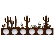 image for Desert Cactus Scene Vanity Light Bar 6 bulb